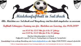 Mädchen 1. FC Sulzbach Schnuppertraining 19.06.2021